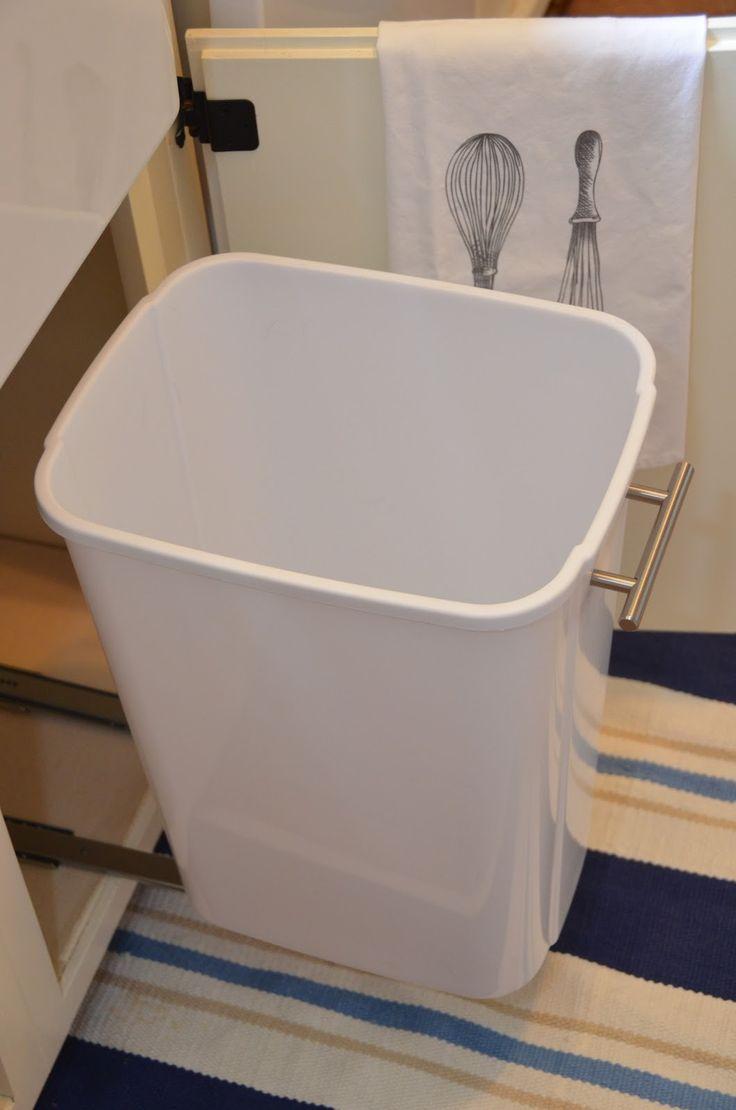 Diy under bathroom sink storage -  Iron Twine Under Sink Storage Diy Slide Out Trash Can