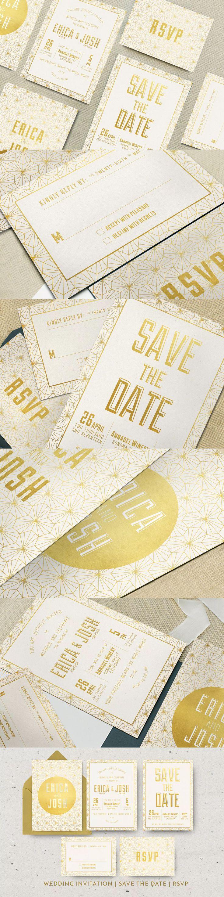 99 best wedding invitation card templates images on pinterest elegant geometric invitation template psd stopboris Images