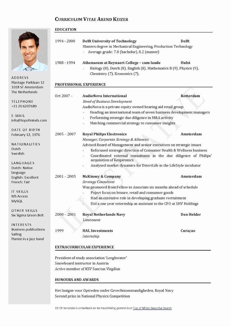 Mechanical Engineering CV Format 2019 Pozitif psikoloji