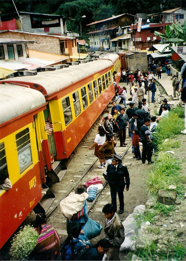 Surely the best way to reach aguas calientes for a visit at Machu Picchu is the Train.   http://www.youtube.com/watch?v=qBQrTuTTM3c