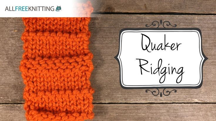 Learn how to knit: Quaker Ridging