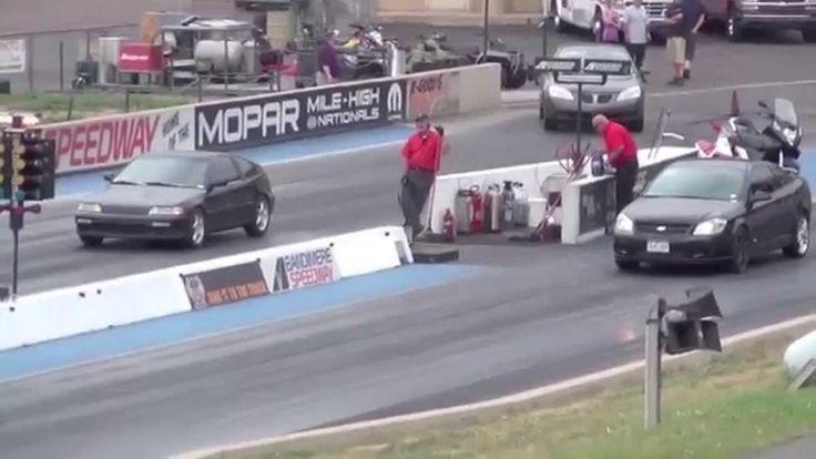 Драг Рейсинг Шевроле Кобальт и Хонда Цивик Drag Race Chevrolet Cobalt SS...