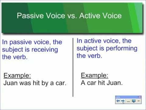 15 best Active \ Passive Voice images on Pinterest English - active verbs