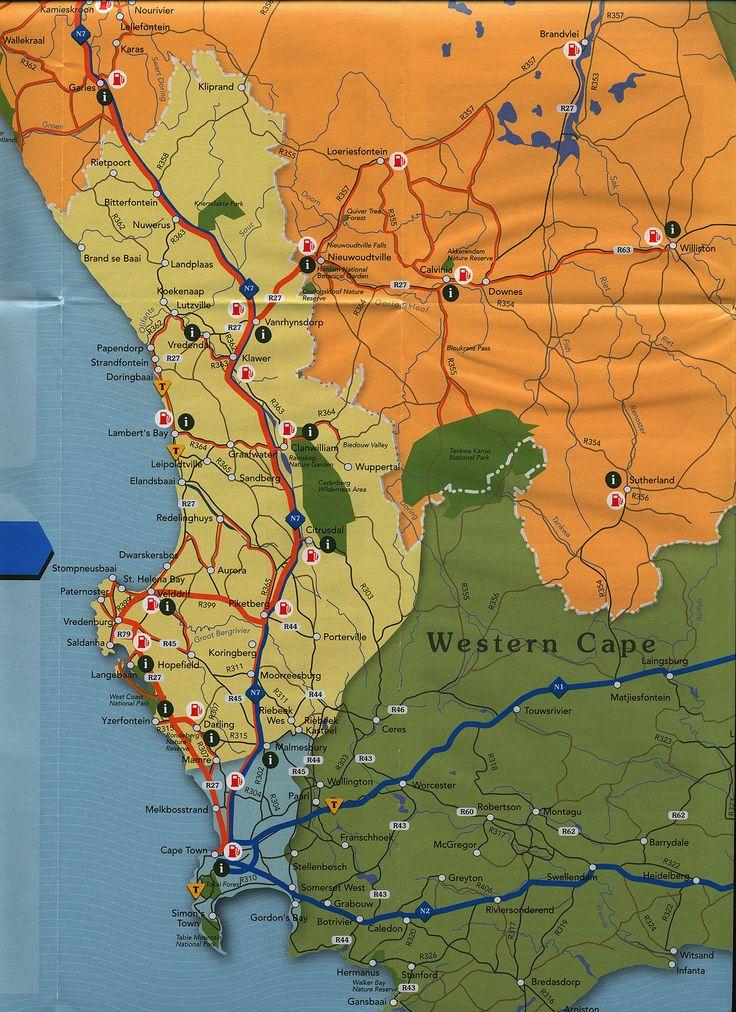 https://flic.kr/p/FKuY4t | Flower Route Namakwa & West Coast; 2013_2, map, South Africa | tourism travel brochure | by worldtravellib World Travel library