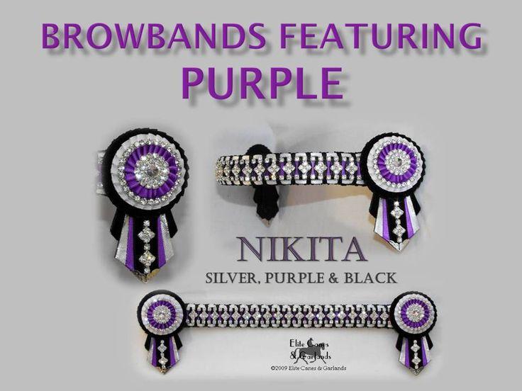 Browbands Purple - Elite Canes & Browbands