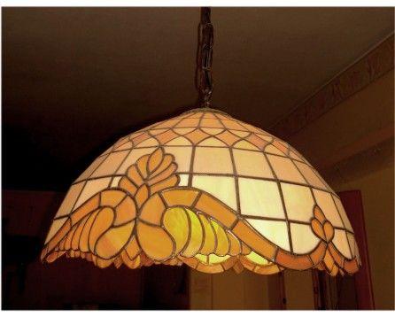 lampa wisząca wzór barok - Glass Atelier - pracownia witrazy | pracownia witraży Bydgoszcz