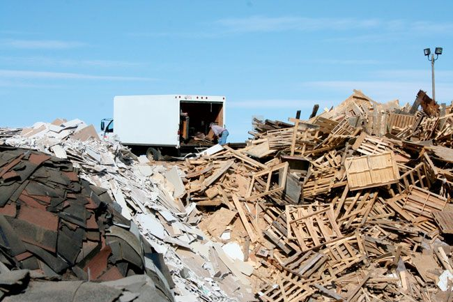 """Diversionary Tactics: """"The construction industry is adopting an increasingly sophisticated approach to waste diversion in order to lighten the load on the province's landfills"""" By Joseph Caouette  http://www.albertaconstructionmagazine.com/index.php/issues/56-spring-2015/754-diversionary-tactics"""
