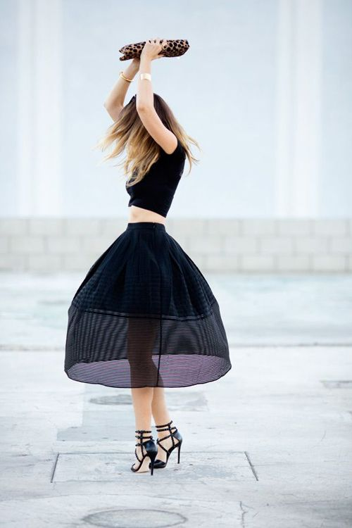 Wear a midsummer midi skirt. (A Home in the Hills twirls to perfection}