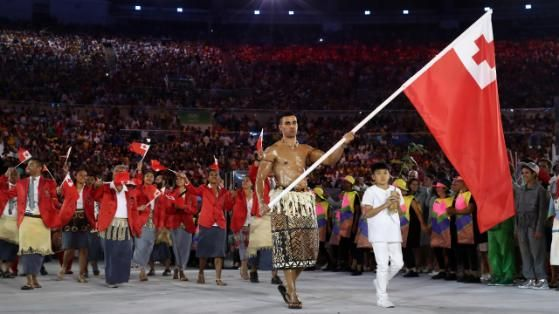 Eröffnungsfeier Rio Tonga