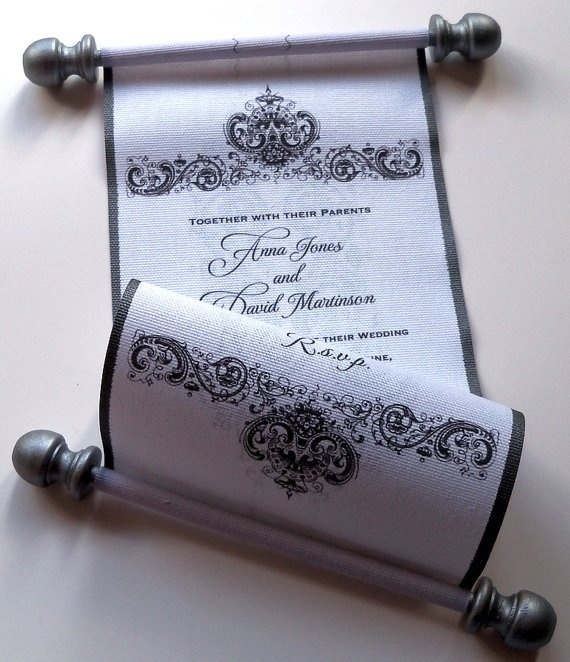Invitation scroll okay, how about this? What if I have some one officially read the scroll to guest with invite, have say I instructed them to give them this, then hand over an invite card