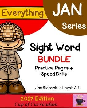 Introducing my NEW Everything JAN Series...Bundle! This product includes Sight Word Practice Pages {Jan Richardson Levels A-I} & Sight Word Speed Drills {Jan Richardson Levels A-I}. These products are aligned to Jan Richardson's NEW BOOK entitled The Next Step Forward in Guided Reading and part of a growing product line.