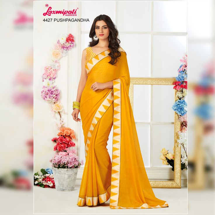 Get this Stunning Yellow Color Chiffon Saree and Satin Silk Yellow & Off White Blouse along with Satin Silk Printed Lace Border Only at Laxmiapti Saree. Limited Stock. Hurry! #Catalogue #Zeeba #Design_Number: 4427 #Price - Rs. 2417.00 Visit for more #designs @ www.laxmipati.com/catalogue/zebaa #Bridal #ReadyToWear #Wedding #Apparel #Art #Autumn #Black #Border #MakeInIndia #CasualSarees #Clothing #ColoursOfIndia #Couture #Designer #Designersarees #Dress #Dubaifashion #Ecommerce #EpicLove…