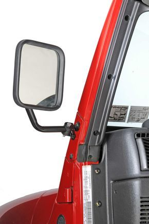 CIPA 44800/01 Dual Mirror Set in Black for 97-06 Jeep® Wrangler TJ & Unlimited with Soft Doors | Quadratec