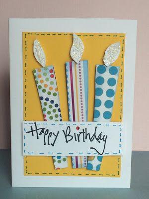 El Rincón de Mara: Dos tarjetas de cumpleaños sencillas