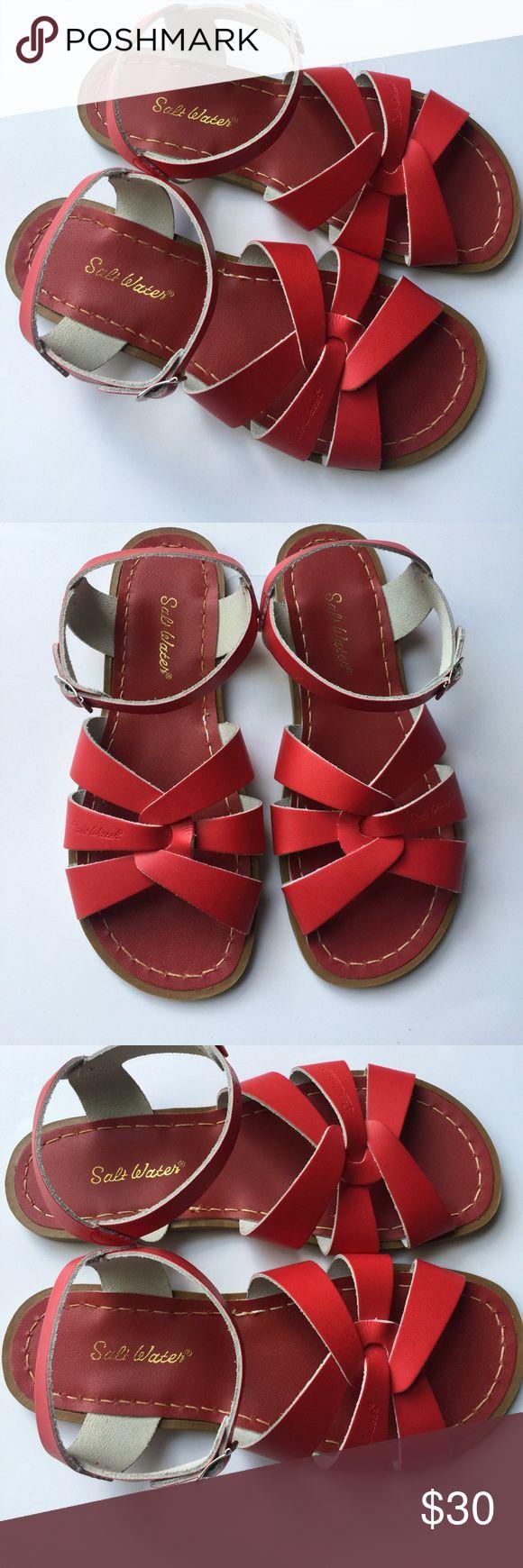 Salt water Women's Size 9 red sandals EUC no flaws Size 9 US Salt Water Sandals by Hoy Shoes Sandals