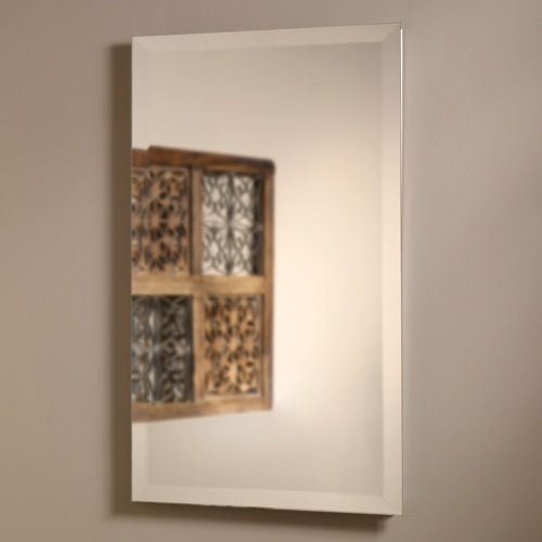 Rectangular Recessed Medicine Cabinet with Beveled Mirror ...