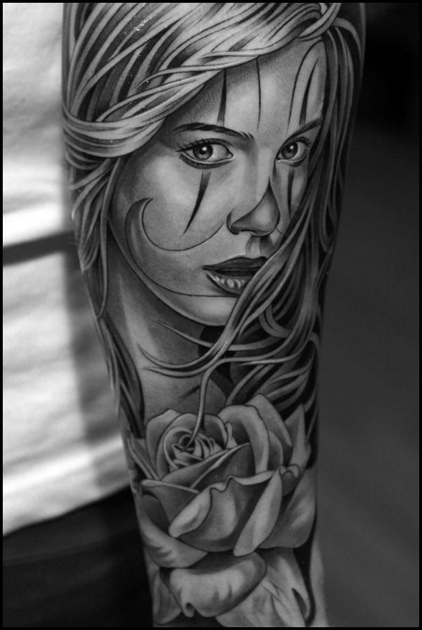 Find The Best Black And Grey Tattoo Artist In Texas Grey Tattoo Black And Grey Tattoos Skull Girl Tattoo