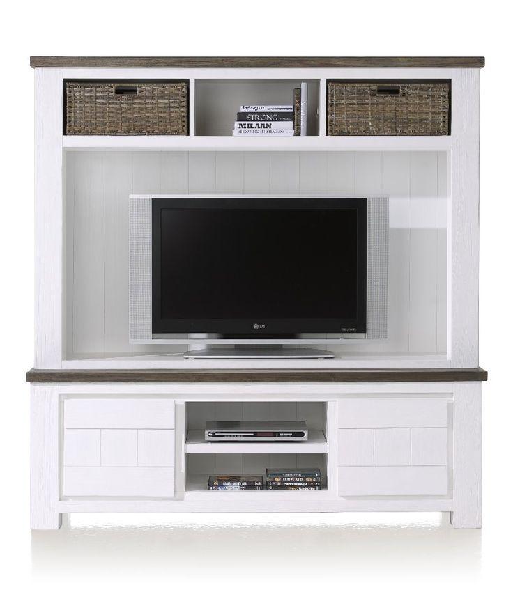 Landelijke tv kast 160 cm breed. Te bestellen in onze webshop http://happy-home.nl/shop/complete-woonkamer/deaumain