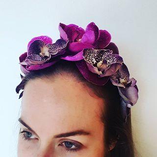 Vanda orchid head piece two ways 🌸🌸