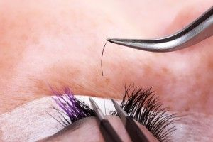 Lash Extension Strand by Strand. Service takes 2hr for a Full Set. Make sure your Eyelash Stylist has Certification.