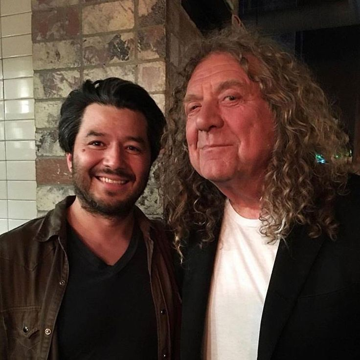 Robert Plant photographed at the Bäco Mercat Mediterranean restaurant in Los Angeles, 29 May 2017