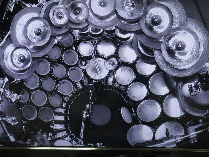Terry Bozzio drum set
