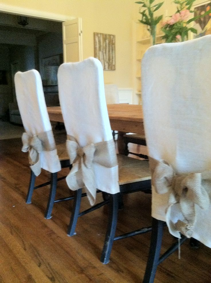 Summer dining chair slipcovers