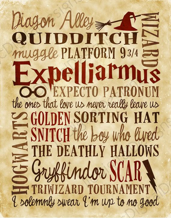 Harry Potter Fan Art Printable Digital Subway by ljcDigitalDesigns