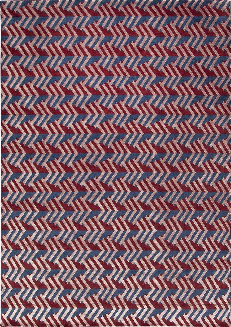 Tappeto annodato a mano in lana e fibre di bambù GATSBY by Sirecom Tappeti