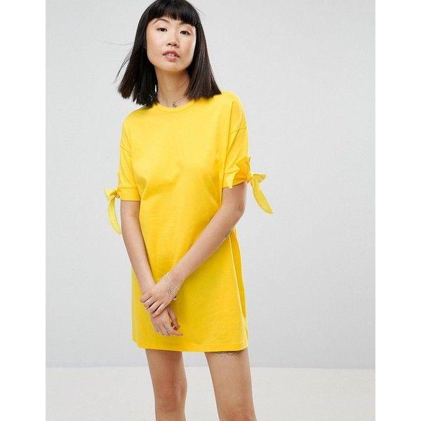 Gelbes t shirt kleid