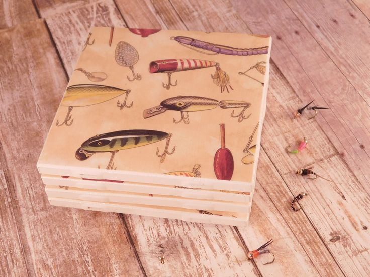 A personal favorite from my Etsy shop https://www.etsy.com/listing/567505971/fishing-lure-coasters-fishing-gift-man