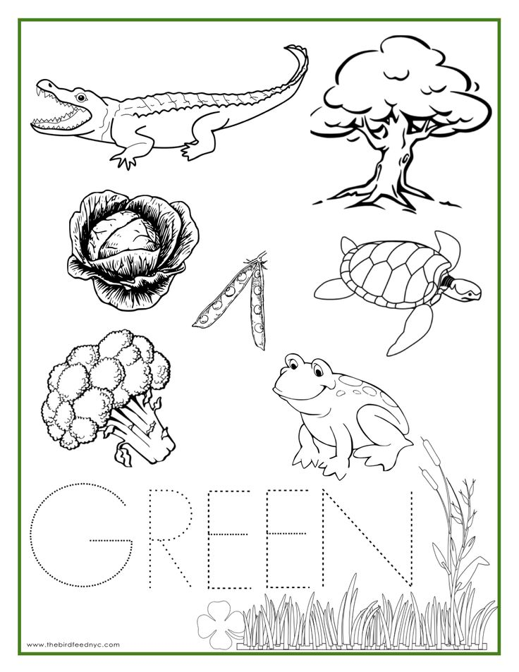 green color activity sheet repinned by totetudecom - Color Activity For Preschool
