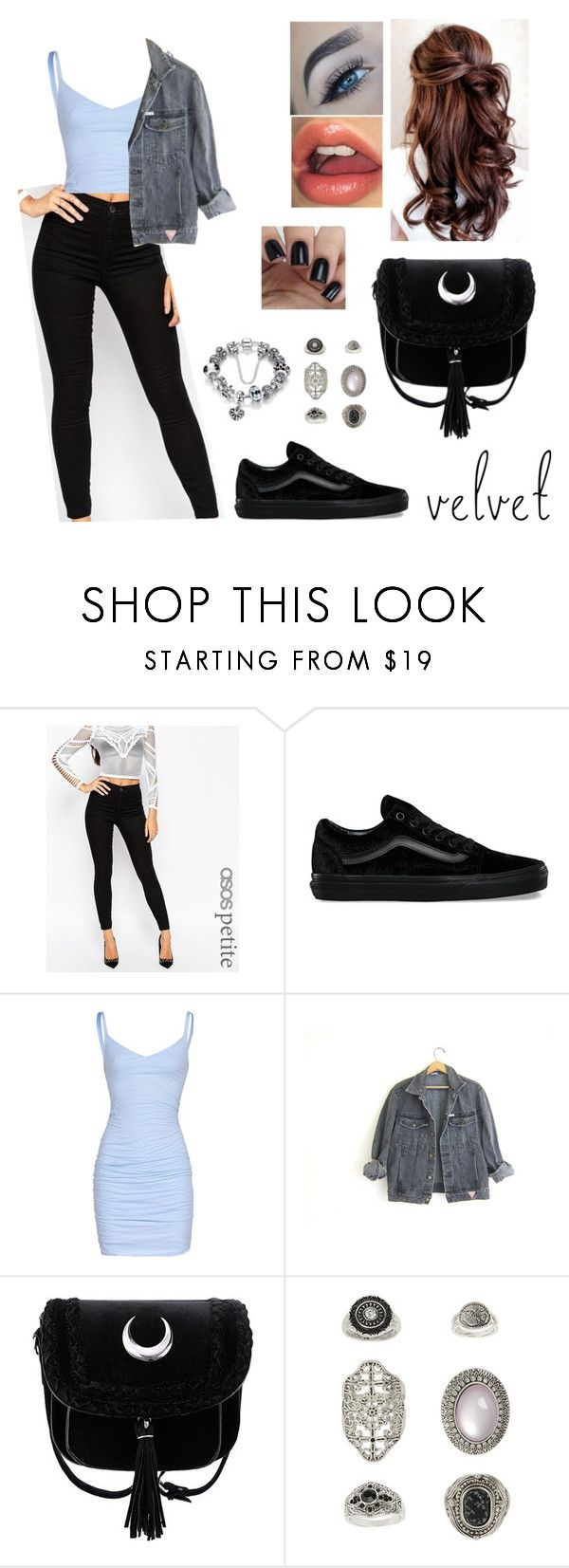 """""""velvet"""" by blackparadice ❤ liked on Polyvore featuring ASOS, Vans, Velvet by Graham & Spencer, GUESS and Topshop"""