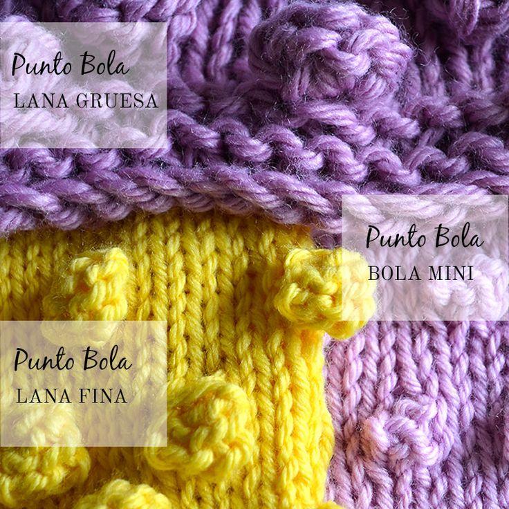 Cómo tejer Punto Bola, hoy en el blog el paso a paso para aprender a tejerlo.