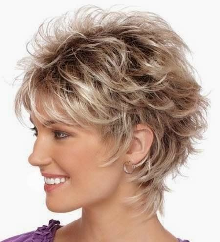 Messy Layered Hairstyle for Short Hair 2014
