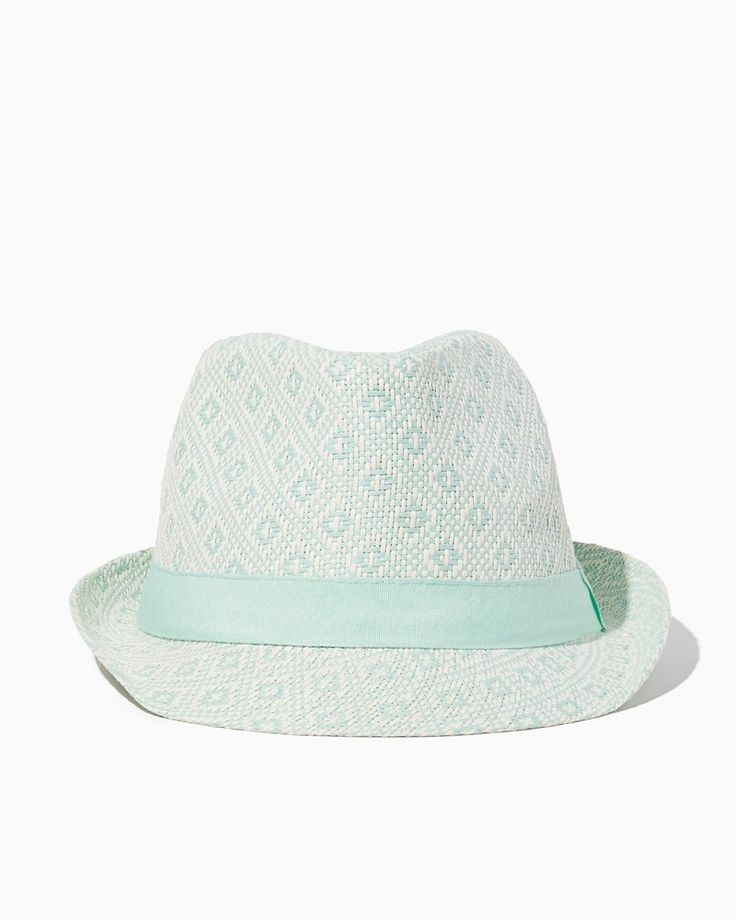 Diamond Patterned Fedora | UPC: 450900494117 Mint, Seafoam Green, Pastel Green