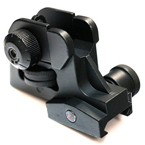Airsoft AEG Shooting Gear DBoys Tactical CQB Dual Apertures Rear Sight Black ** To view further for this item, visit the image link.