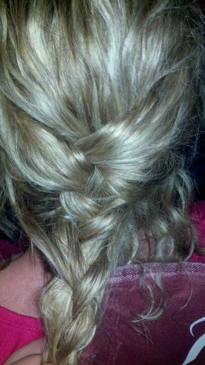 I was trying to braid...