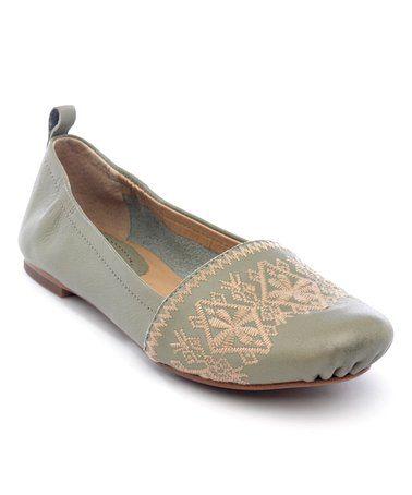 Love this Sage Boca Leather Ballet Flat on #zulily! #zulilyfinds