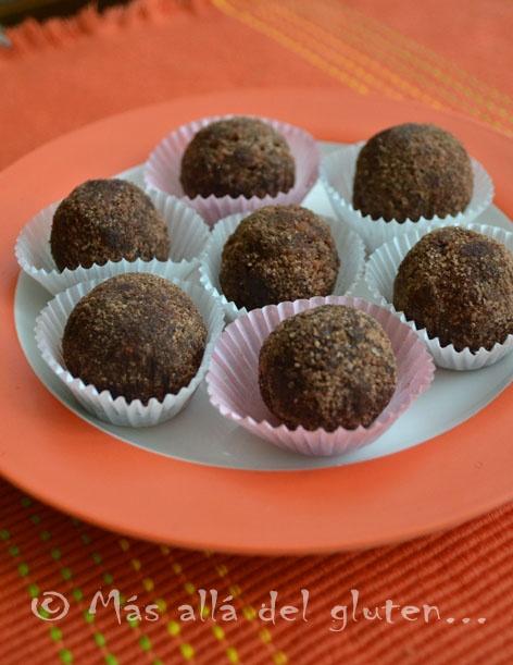 Más allá del gluten...: Trufas de Chocolate (Receta GFCFSF, Vegana, RAW)