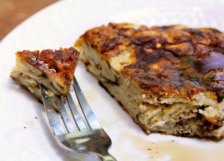 Maple cinnamon matzoh brei recipe from The Perfect Pantry (Yum!)