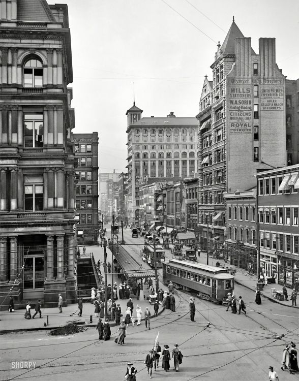1912 Main Street In Cincinnati Ohio Rare Historical