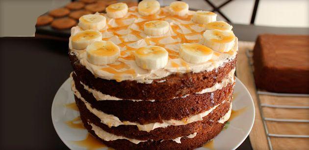 Простые и вкусные рецепты бананового торта