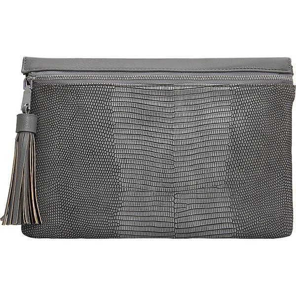 Yoins Grey PU Clutch Bag In Snake Pattern (87 BRL) ❤ liked on Polyvore featuring bags, handbags, clutches, grey, snake print handbags, strap purse, grey clutches, crossbody purses and pocket purse