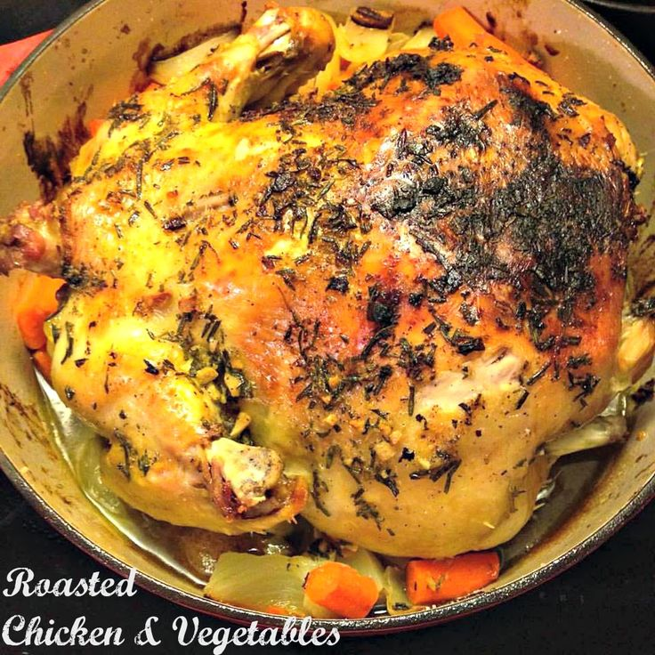 Whole Roasted Chicken  Vegetables In The Dutch Oven -2191