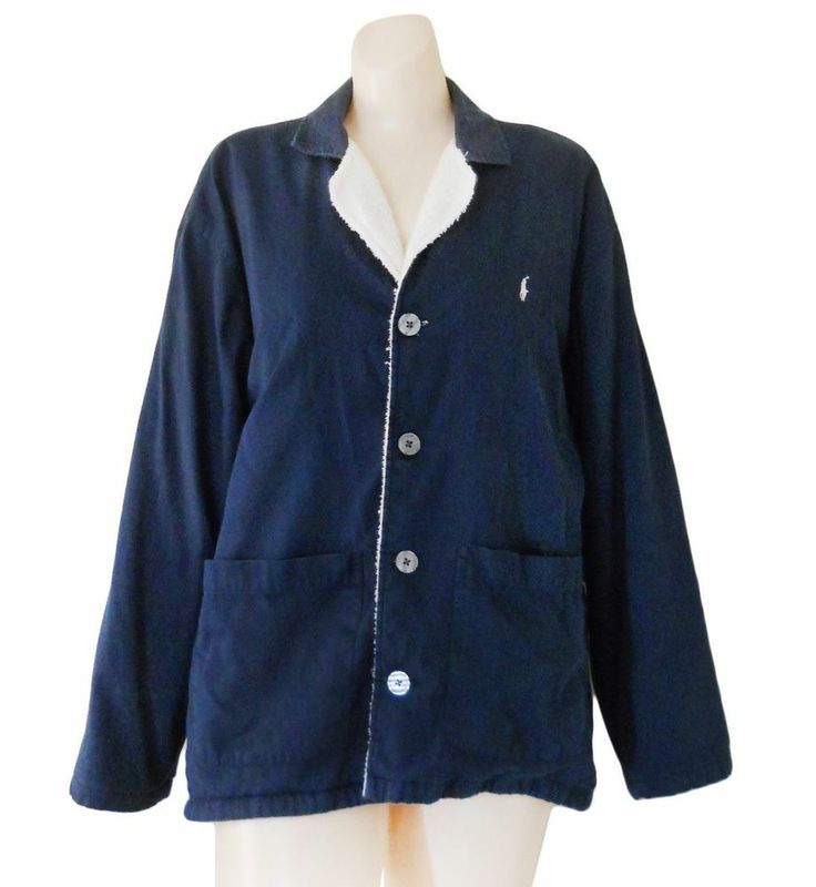 Polo Ralph Lauren Barn Jacket Women Small Navy Blue Spring Ladies
