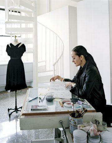 Isabel Toledo Looking Through Her Design Book