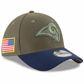 New Era Los Angeles Rams Salute To Service 39THIRTY Flex Hat #rams #larams #nfl
