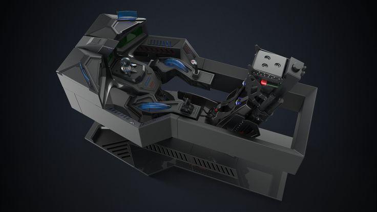 The Reaper - Hardsurface Cockpit, Laurentiu Nedelca on ArtStation at https://www.artstation.com/artwork/ooyvW