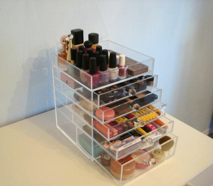 Best Makeup Organization Images On Pinterest Makeup - Clear acrylic makeup organizer